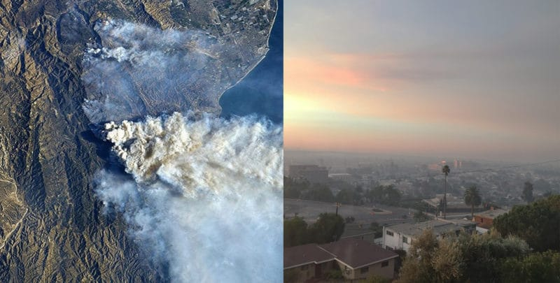 thomas fire smoke