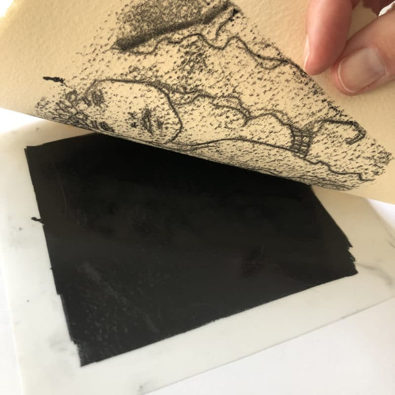 pulling a monotype print