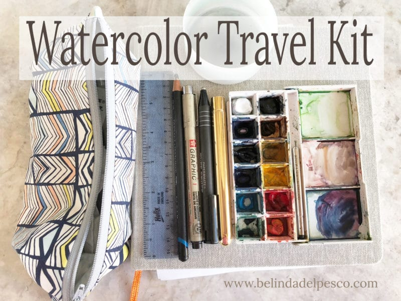 beginner watercolor set for traveling
